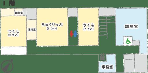 博愛会保育園フロア図 1F