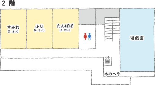 博愛会保育園フロア図 2F